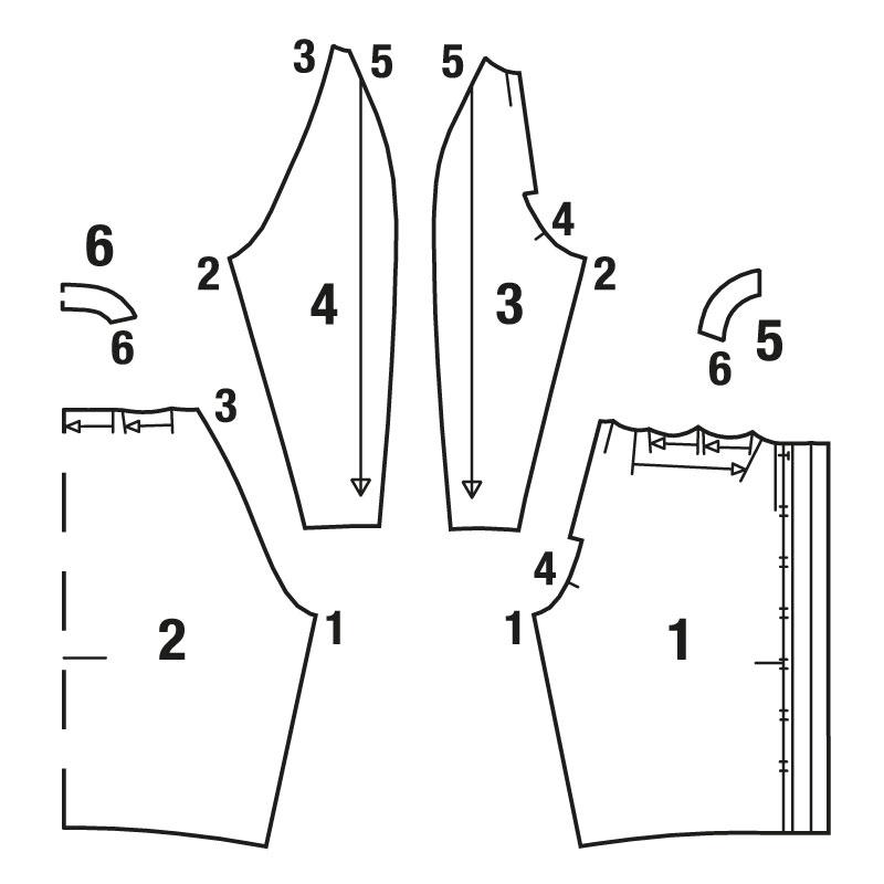 Шьем блузон со складками вдоль горловины