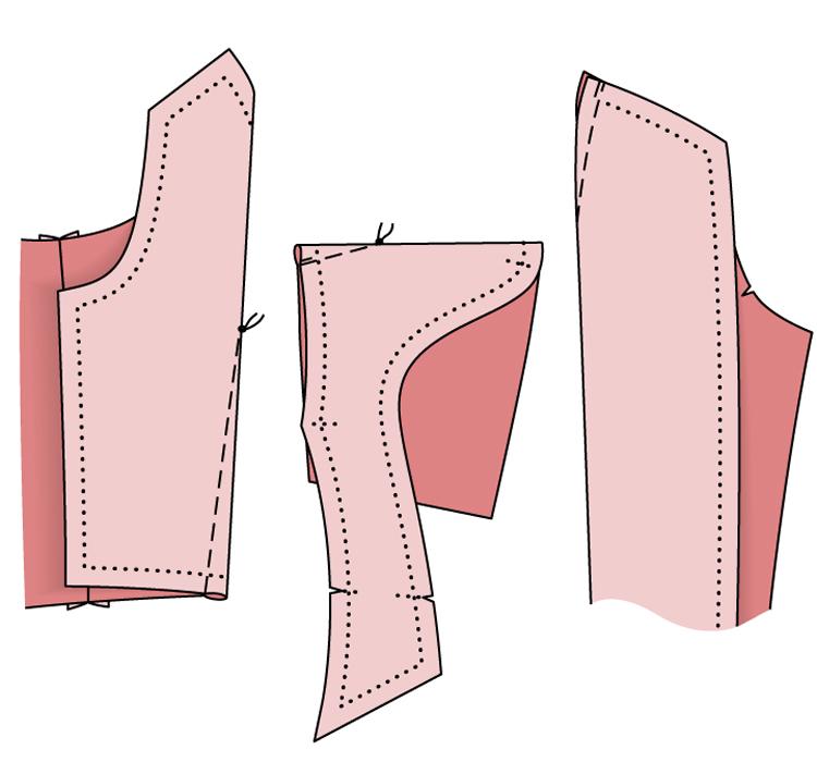 Блузка. Длятех, кто учится шить