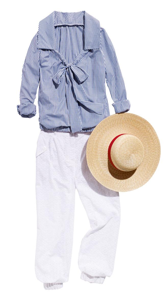 Блузка в полоску: миксуем образы