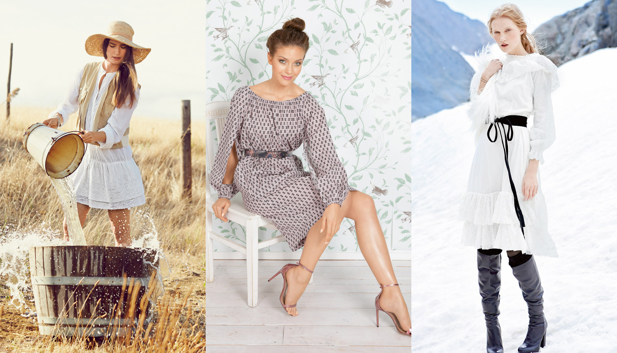 С чем носить платье крестьянку