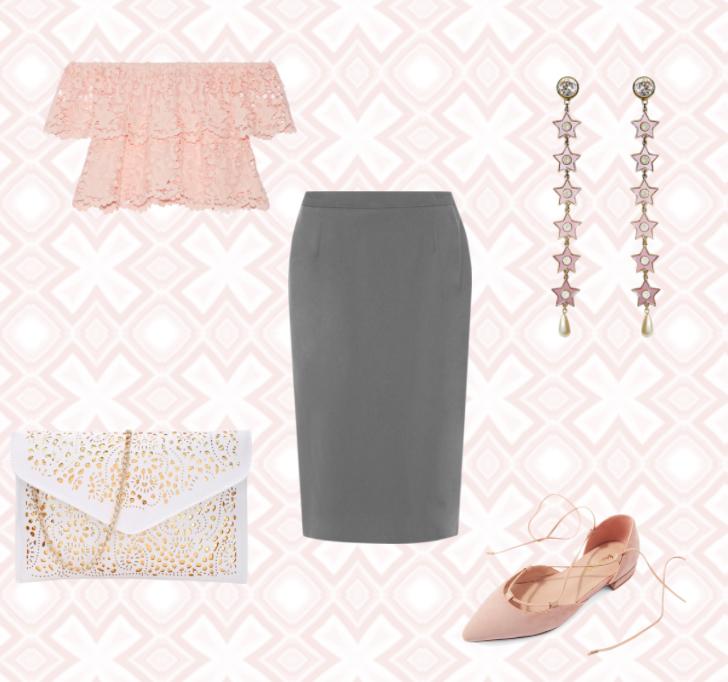 6 способов носить серую юбку сшиком