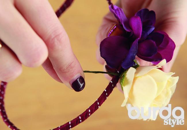 Цветы вволосах