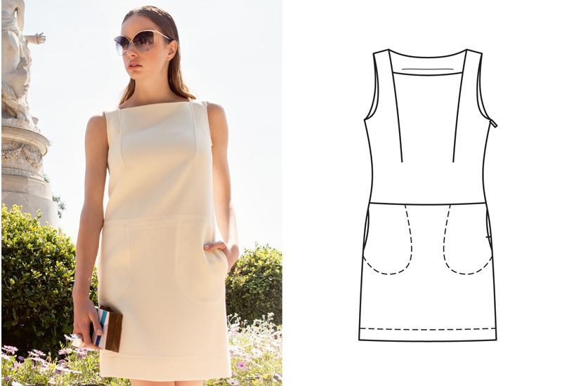 Платья с вытачками от плеч