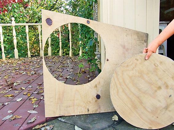 Как сделать садовый пуфик изподручного материала