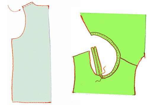 Как сшить трикотажные легинсы итоп длядевочки