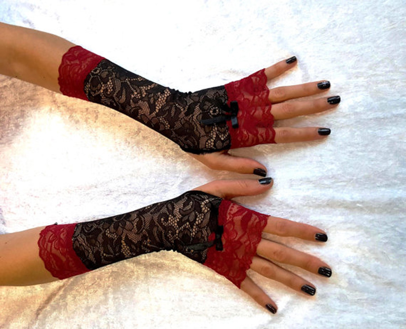 Кружевные митенки своими руками