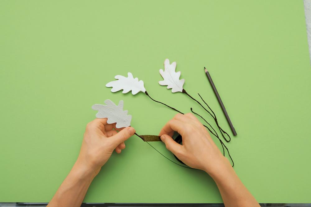 Филигранные листья избумаги своими руками