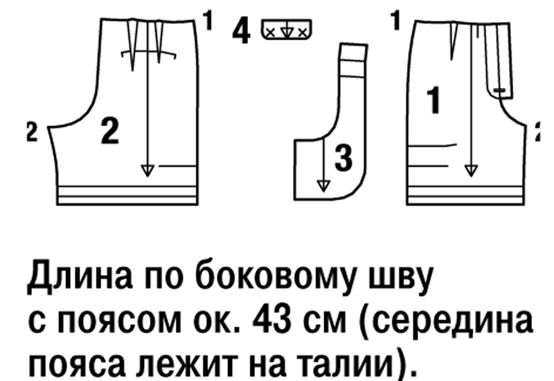 Как сшить шорты с накладными карманами XL