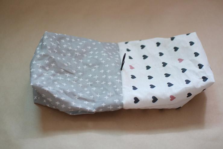 Подарочный пакет изткани своими руками