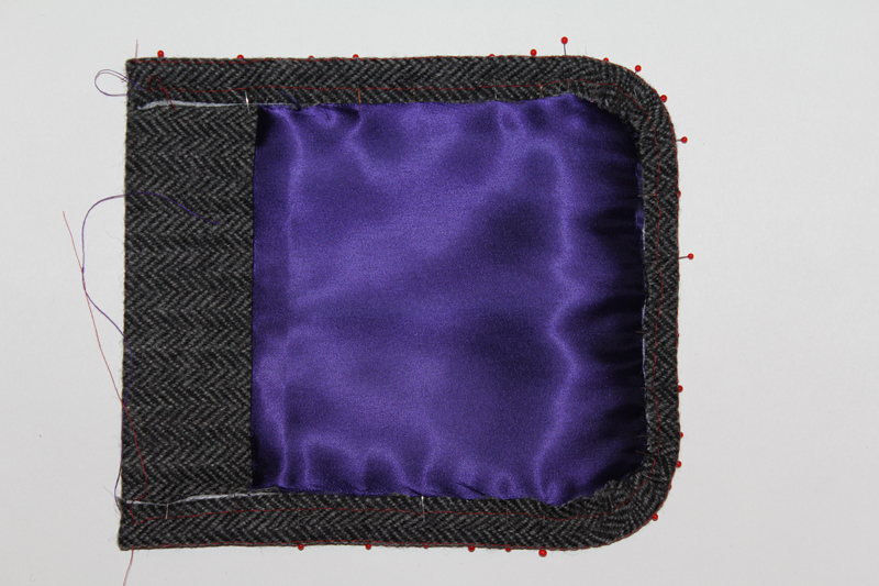 Обработка накладного кармана наподкладке
