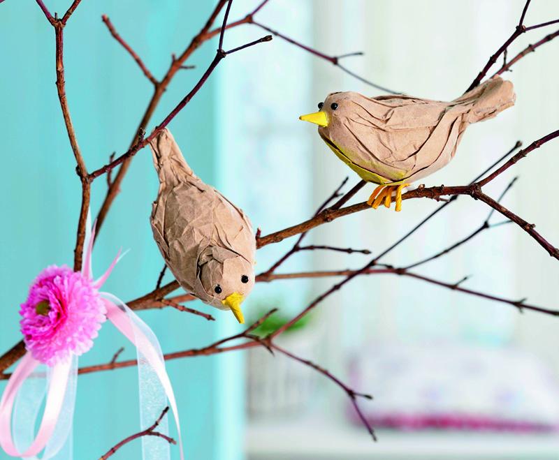 Птички изшёлковой бумаги своими руками