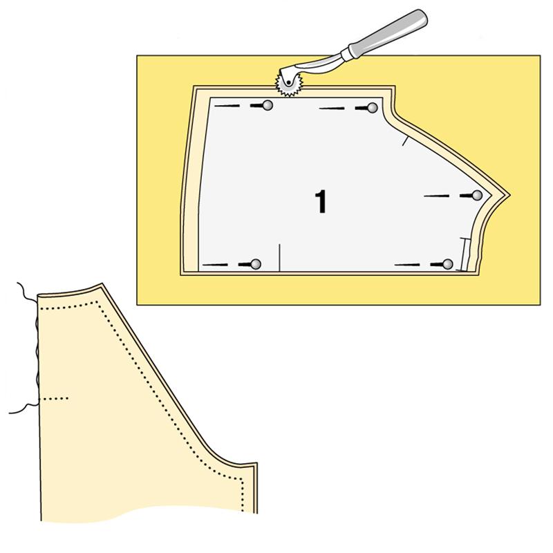 Как сшить блузку со встречной складкой