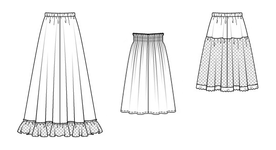 Как сшить легкую юбку на резинке